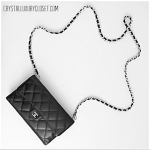 Authentic Chanel Classic Flap Wallet On Chain Bag